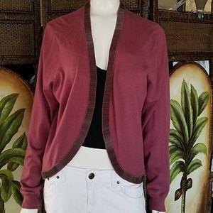 Soft Surroundings Mauve beaded waist sweater